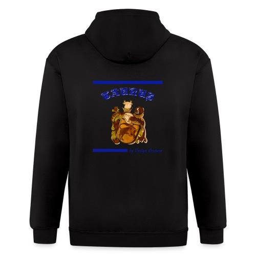 TAURUS BLUE - Men's Zip Hoodie