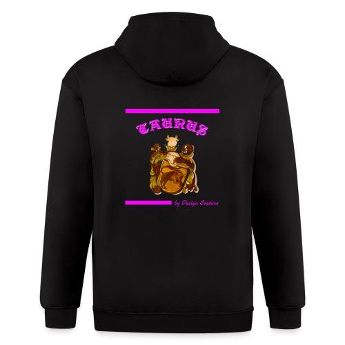 TAURUS PINK - Men's Zip Hoodie