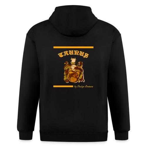 TAURUS ORANGE - Men's Zip Hoodie