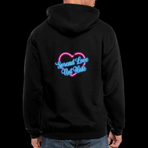 Spread Love Not Hate - Men's Zip Hoodie