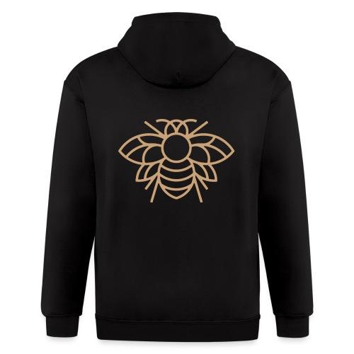 (bee_gold) - Men's Zip Hoodie