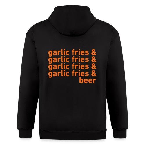 Garlic Fries & Beer (SF Giants) - Men's Zip Hoodie