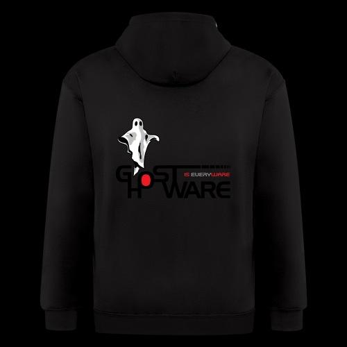 Ghostware Wide Logo - Men's Zip Hoodie