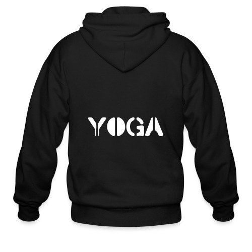 YOGA white - Men's Zip Hoodie