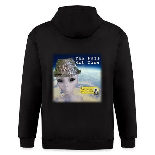 Tin Foil Hat Time (Earth) - Men's Zip Hoodie