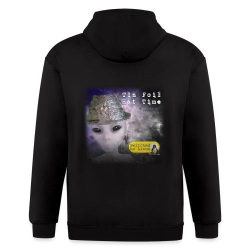 Tin Foil Hat Time (Space) - Men's Zip Hoodie