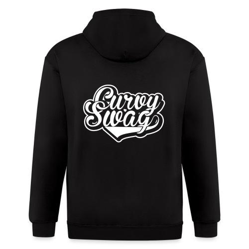 Curvy Swag Reversed Out Design - Men's Zip Hoodie