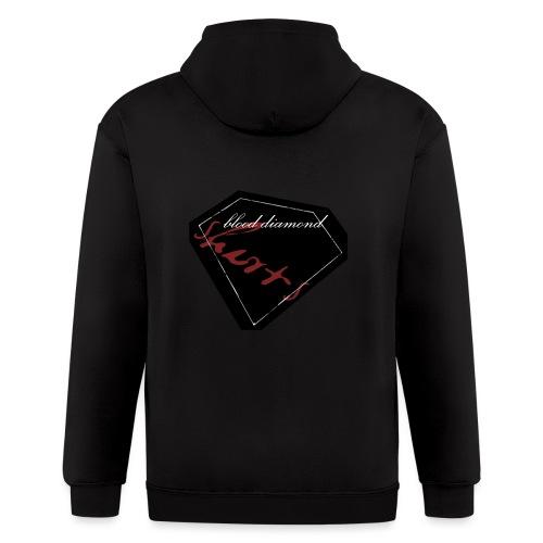 Blood Diamond -black logo - Men's Zip Hoodie