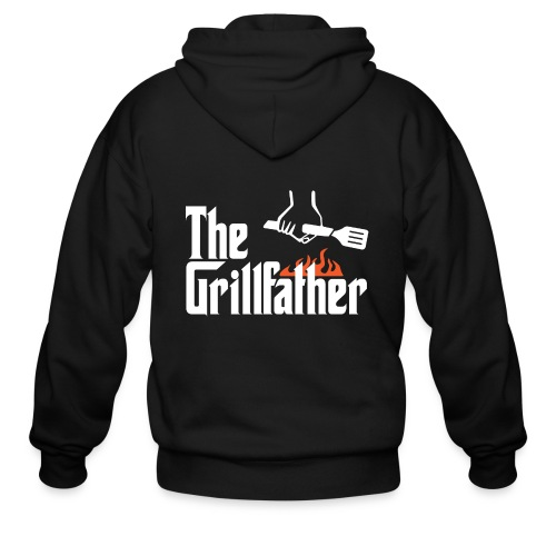 The Grillfather - Men's Zip Hoodie
