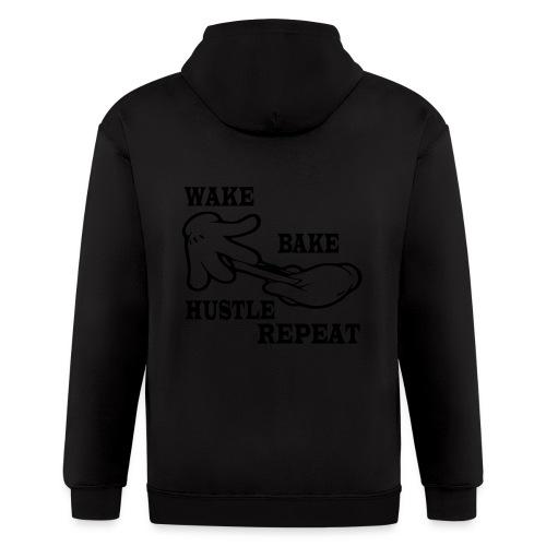 Wake bake hustle repeat - Men's Zip Hoodie