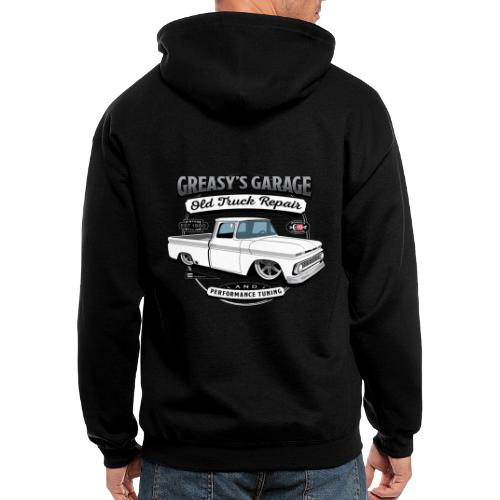 Greasy's Garage Old Truck Repair - Men's Zip Hoodie