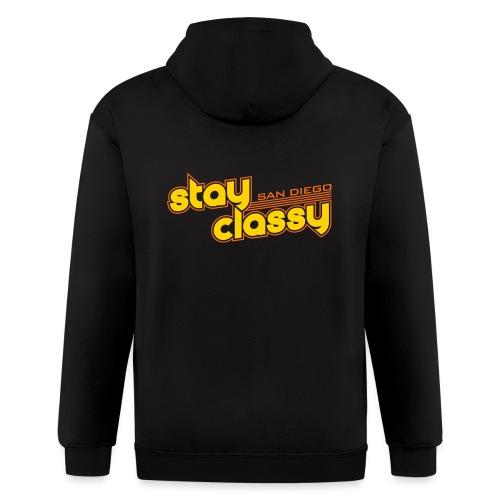 Stay Classy San Diego - Men's Zip Hoodie