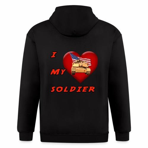I Heart my Soldier - Men's Zip Hoodie