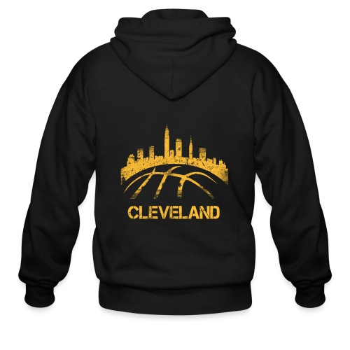 Cleveland Basketball Skyline - Men's Zip Hoodie