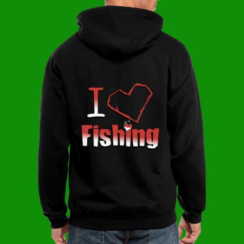 I heart fishing - Men's Zip Hoodie