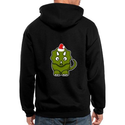 Happy Holidays Triceratops - Men's Zip Hoodie