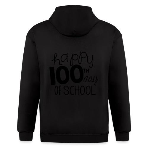 Happy 100th Day of School Chalk Teacher T-Shirt - Men's Zip Hoodie