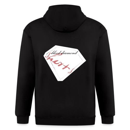 Blood Diamond -white logo - Men's Zip Hoodie