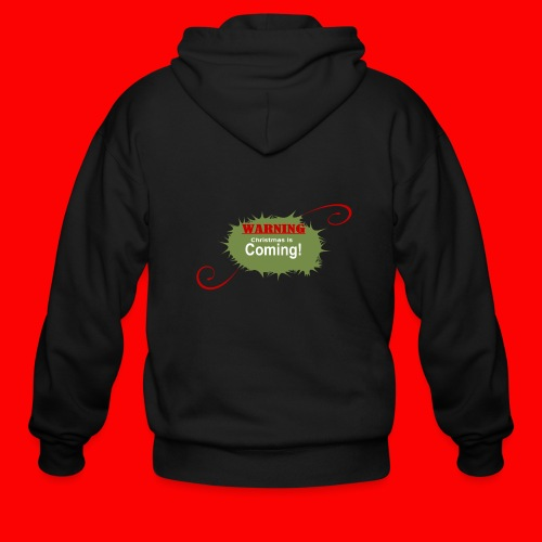Christmas_is_Coming - Men's Zip Hoodie