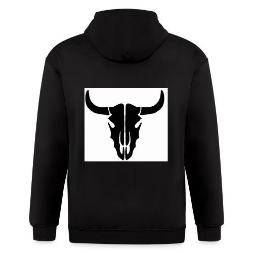 Longhorn skull - Men's Zip Hoodie