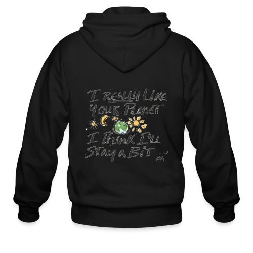 I Really Like your Planet - Men's Zip Hoodie