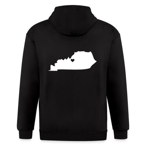 Kentucky Silhouette Heart - Men's Zip Hoodie