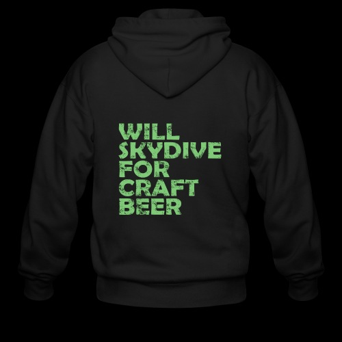 skydive for craft beer - Men's Zip Hoodie