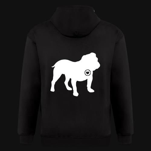 Bulldog love - Men's Zip Hoodie