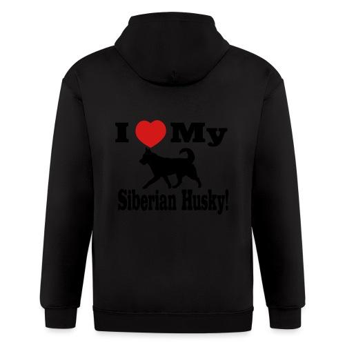 I Love my Siberian Husky - Men's Zip Hoodie