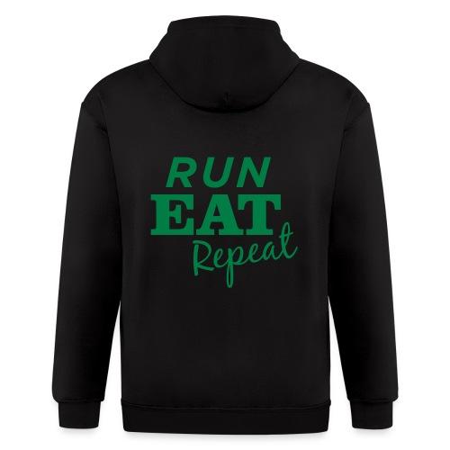 Run Eat Repeat buttons medium - Men's Zip Hoodie