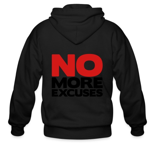 No More Excuses - Men's Zip Hoodie