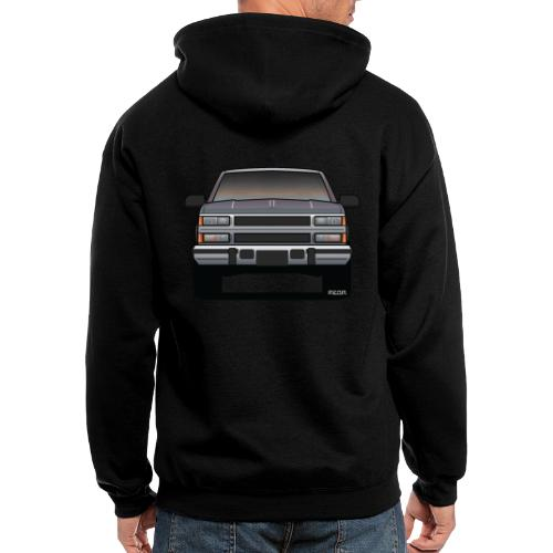 Design Icon: American Bowtie Silver Urban Truck - Men's Zip Hoodie