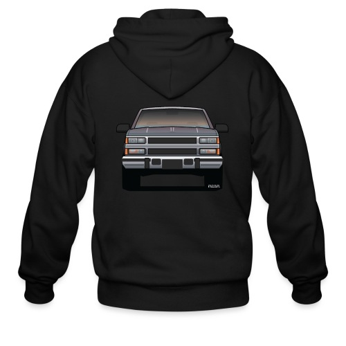 Design Icon: American Bowtie Silver Urban Truck - Men's Zip Hoodie