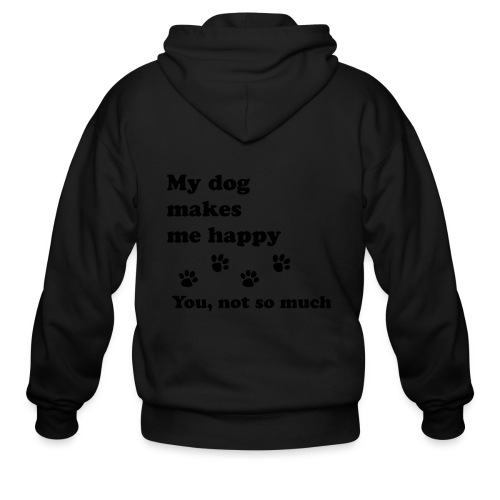 love dog 2 - Men's Zip Hoodie