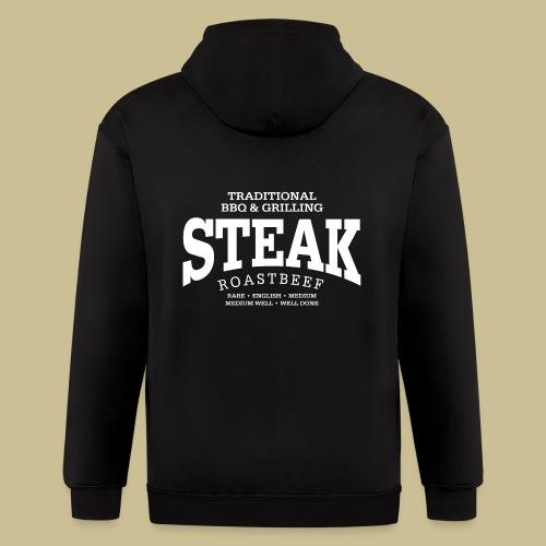 Steak (white) - Men's Zip Hoodie