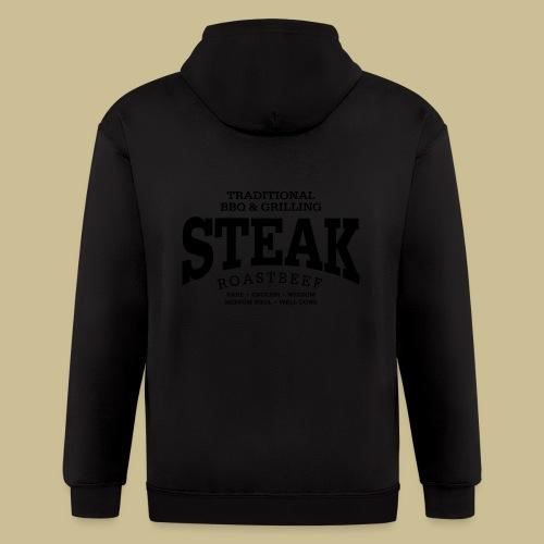 Steak (black) - Men's Zip Hoodie