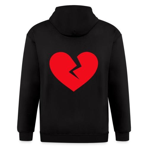 Broken Heart - Men's Zip Hoodie
