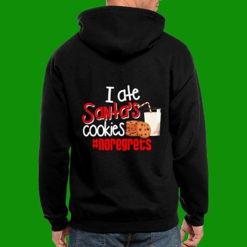 #NoRegrets Santa's Cookies - Men's Zip Hoodie