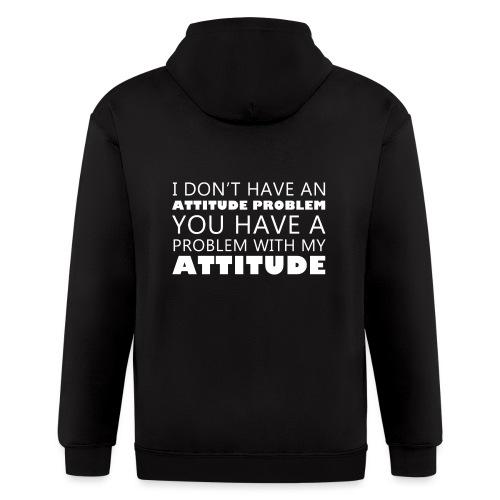 attitude - Men's Zip Hoodie