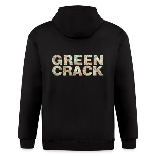 GREEN CRACK.png - Men's Zip Hoodie