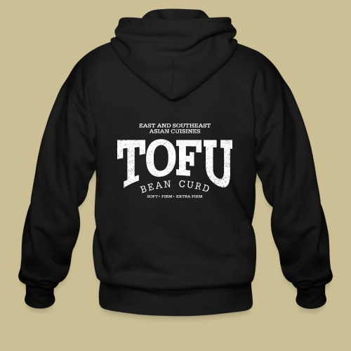 Tofu (white oldstyle) - Men's Zip Hoodie
