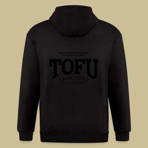 Tofu (black oldstyle) - Men's Zip Hoodie
