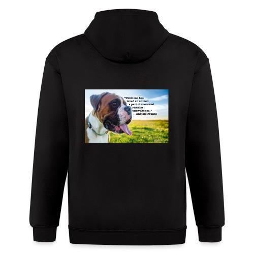 Until one has loved an animal - Men's Zip Hoodie