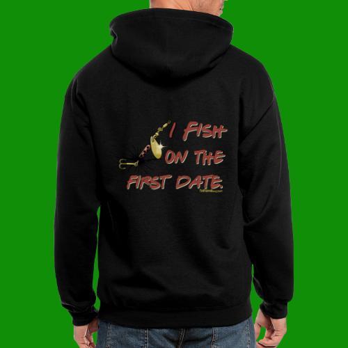 Fish on the First Date - Men's Zip Hoodie