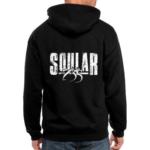 Soular235 White Logo - Men's Zip Hoodie