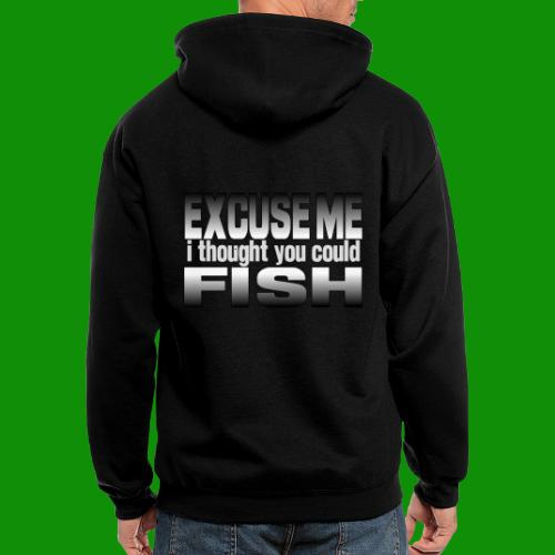 Thought You Could Fish - Men's Zip Hoodie