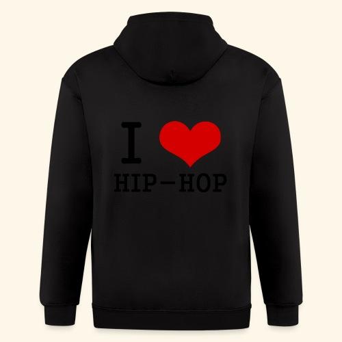 I love Hip-Hop - Men's Zip Hoodie