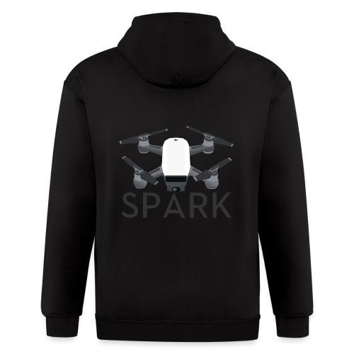 DJI Spark Drone Pilot - Men's Zip Hoodie