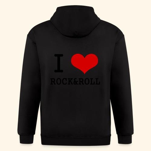 I love rock and roll - Men's Zip Hoodie