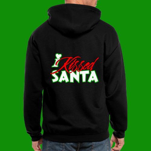 I Kissed Santa - Men's Zip Hoodie